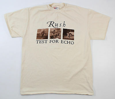 "Vintage Rush Tour Shirt ""Test For Echo"" 1996 1997 Adult Large Hanes"