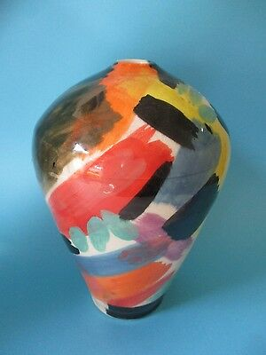 MID CENTURY MODERN Abstract Studio Art Pottery Handcrafted Twig Weed Vase