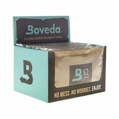 Boveda RH 62% 2 Way Humidity Control Retail Cube Large 67g Gram - 12 Pack