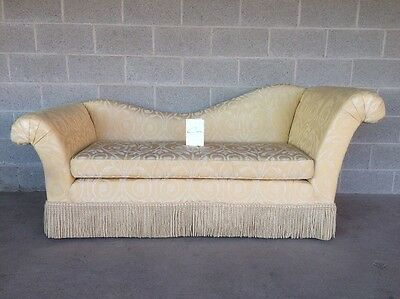 Cox Furniture Hollywood Regency Chaise Lounge Sofa/love Seat French Rollback