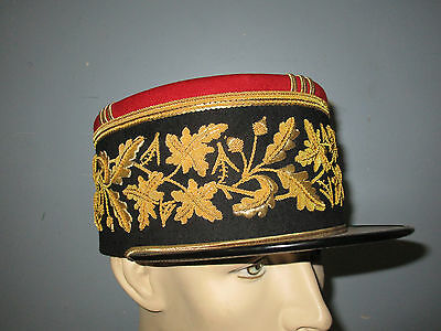 Extremely Rare Named French General Kepi Dress Hat Engineer Material Supply
