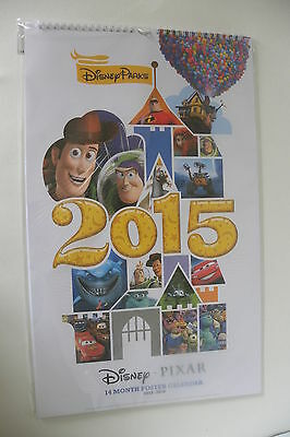 collectible Disney Parks Pixar 14 month Poster/Calendar 2015/16 New Sealed NIP