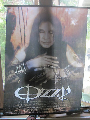 """Ozzy Osborne Fabric Poster Scroll 42"""" x 30"""" Adjustable Hangers - MOST EXCELLENT"""