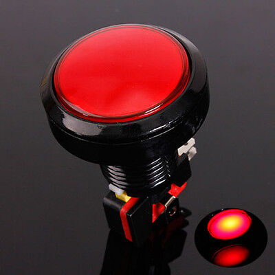 60mm Red LED Light Big Round Arcade Video Game Player Push Button Switch Lamp