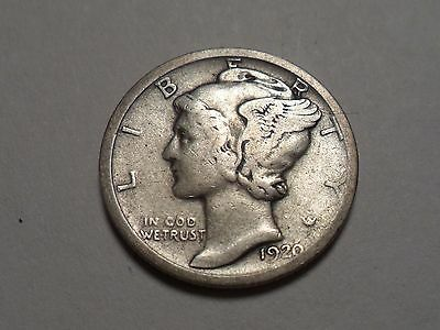1920-D  Nice 90% Silver Better Date Winged Liberty Head Mercury Dime!!!!