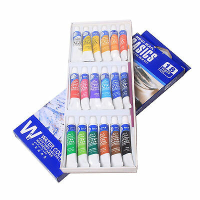18 Color 5ml Paint Tube Draw Painting Watercolor Water Set