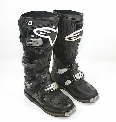 Alpinestars Tech 8 MX Motocross Off-Road Riding Boots Black Men's Size 8
