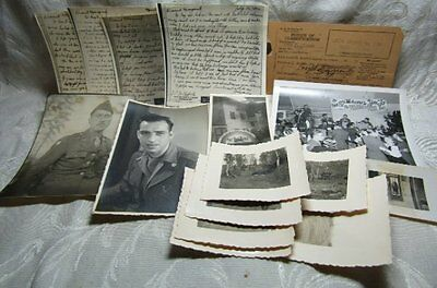 WWII Army Draft Classification Papers, Victory Mail, U.S. and Germany Photos Lot