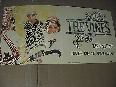 """THE VINES Winning Days 2004 12x24"""" 2 Sided Promo CD Record Store Poster"""