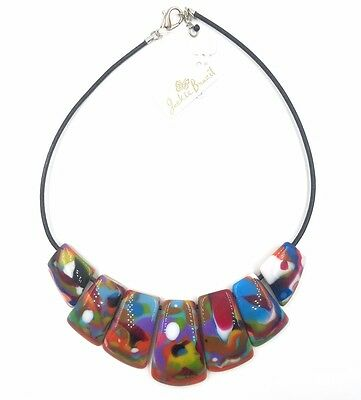 """NEW! from Brazil!  """"Beatrice"""" Necklace by Jackie Brazil - Mixed Colors"""
