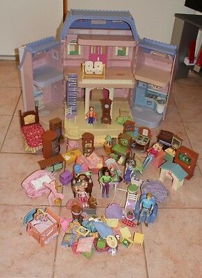 Fisher Price Loving FamilyDollhouse, Furniture, Dolls And Accessories-VGC