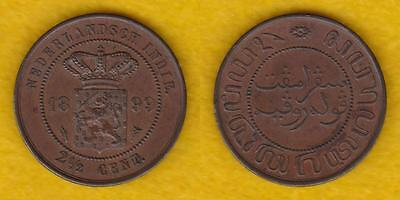 Netherlands East Indies 2 1/2 Cents 1899 Au Condition --- Plya