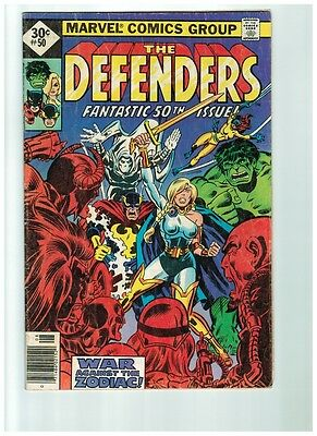 The Defenders # 50 Fantastic 50th Issue Cover VG Marvel Comics
