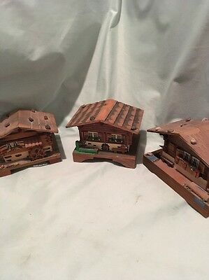 Three Swiss Made Music Boxes Reuge Vintage Wood