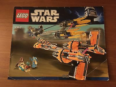 LEGO Star Wars 7962 POD RACERS MANUAL ONLY -USED-FAST SHIPPING