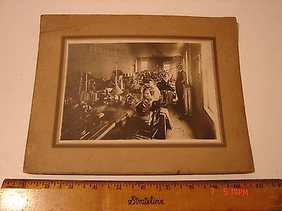 Antique Photo Card Picture Textile Factory Standard Sewing Machine Women Ladies