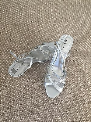 Womens silver high heels shoes - Size 8