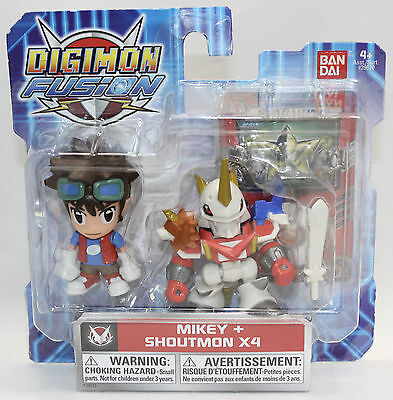 Digimon Fusion Mikey + Shoutmon X4 New In Package Bandai