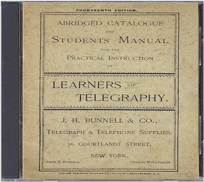 1895 Telegraphy Catalog on CD - Students Manual, equipment, prices and more