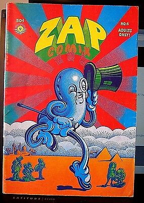ZAP #4 VF 1969 2nd Ptg APEX MOSCOSO WILLIAMS R CRUMB S C WILSON $0 Ship USPS