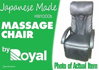 Massage Chair MADE IN JAPAN Black 5YEAR WARRANTY Motor Electric Leather Recliner