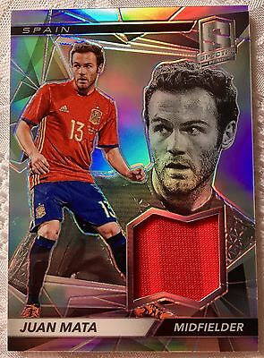 2016 Panini Spectra Soccer - Swatches - Juan Mata - Spain - #168 of 199