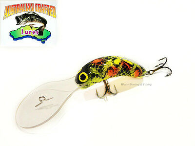 Australian Crafted Lures- cod 70mm invader Wagga Frog col;8 30ft a.c.lures