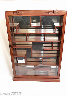 Antique Chinese Rosewood Display Curio  Cabinet