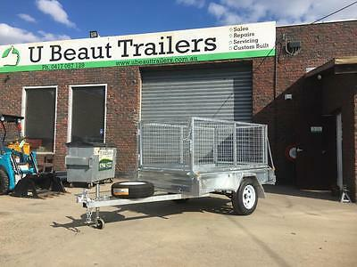 6x4 Single axle Box Trailer Galvanised Fully Welded