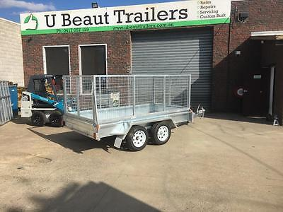 9x5  Tandem Trailer Galvanised Fully Welded Heavy Duty 1000mm cage