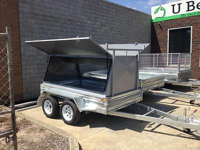 8x5 Galvanised Tandem with Tradesman Top trailer