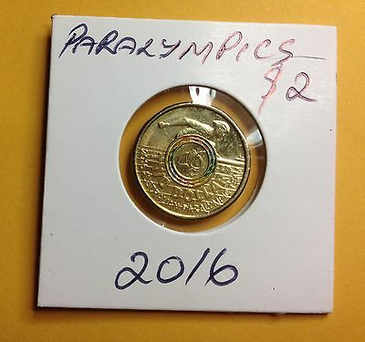2016  $2 Australian Paralympic Team  Coin in  2x2 Holder