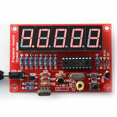 DIY Digital LED 1Hz-50MHz Crystal Oscillator Frequency Counter Meter Tester SS