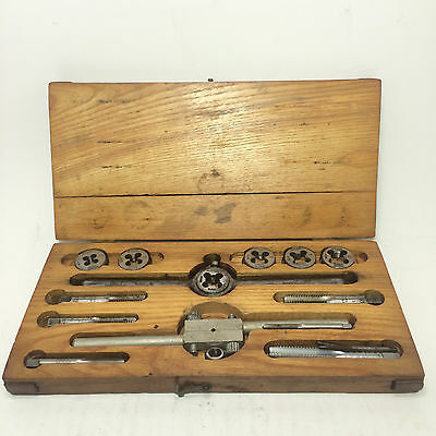 Taps & Dies Hand Kit With Wood Case And Mixed Bits Star Craftsman ext.