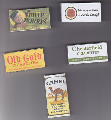 Ww2 Set Of 5 Empty Usable Us K Ration  Cigarette Packets (Repro)