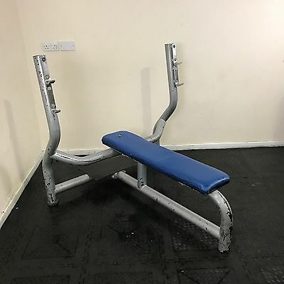 Precor Contura Olympic Flat Bench with spotting plate (Commercial Gym Equipment)