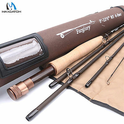 Maxcatch Fly Fishing Rod 9'/10'6''-#5WT 5Sec Extra Extension Section & Rod Tube
