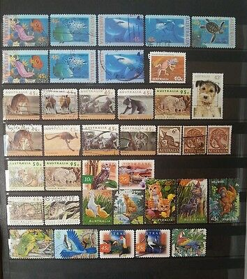 Australian stamps - Animal themed - one page
