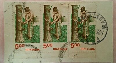 India stamps - full postmark on paper (used)