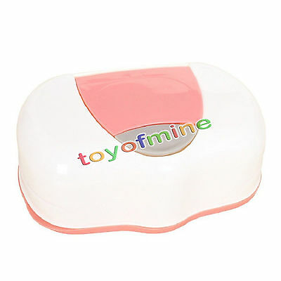 Wet Tissue Paper Box Baby Wipes Storage Case Holder Container Button Open Home
