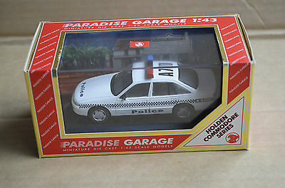 Paradise Garage 1:43 Scale Model Vr Holden Commodore Vic Police Car Mint Boxed