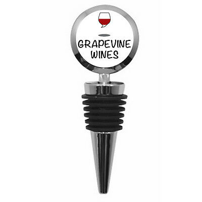 Personalized Round Wine Bottle Stopper with personalised image text or logo