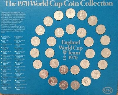 1970 England World Cup coin collection