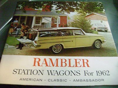 Rambler - Booklet / Poster Station Wagons For 1962 - Sales Booklet