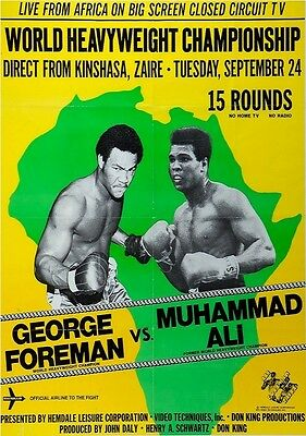 Photograph of Rumble In The Jungle poster - Muhammad Ali vs George Foreman
