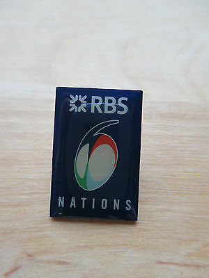 Rugby pin badge RBS 6 nations