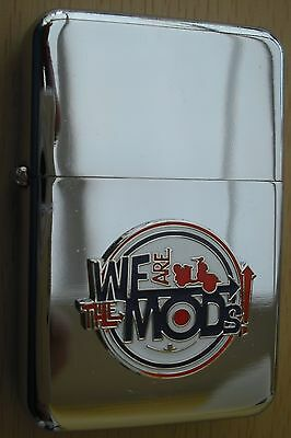 We Are The Mods Scooter Silver Star Lighter 3D Target On It
