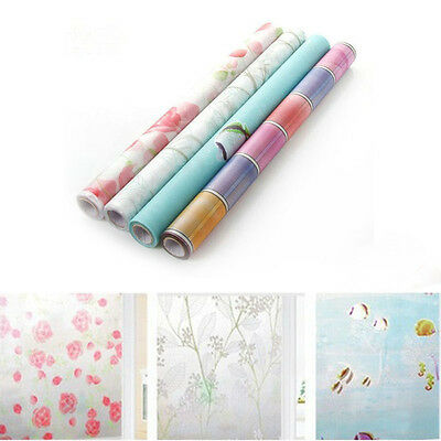 Anti-UV  Frosted Glass Flower Privacy Sticker Cling Windows Covering Vinyl Film