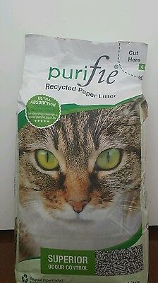 Purifie Recycled Paper Cat Litter 30L - Chemical Free