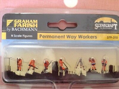 Graham Farish By Bachmann. 379-310. Permanent Way Workers Figures.  N Scale.
